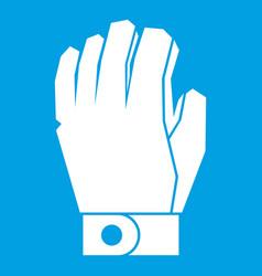 hockey glove icon white vector image vector image