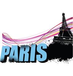 paris border vector image vector image