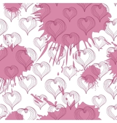 Abstract Hearts on a crimson background vector image vector image