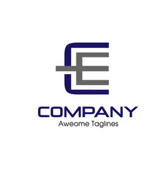 ce letter business design template logo icon vector image