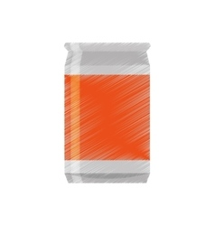 Drawing can soda orange sticker vector