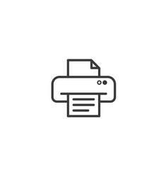 printer symbol icon pixel perfect outline line vector image