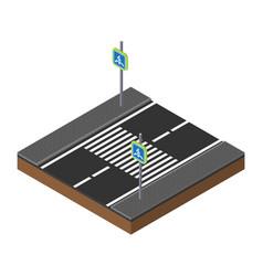 printisometric traffic lights on crossroads vector image vector image