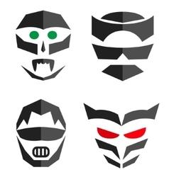 Set of hero mask Superhero costume accessories vector image vector image