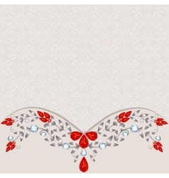 Background with jewelry vector image