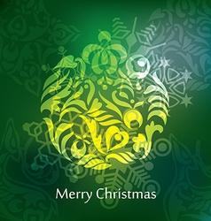 christmas postcard design vector image vector image
