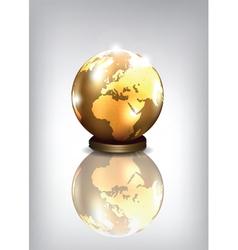 golden earth vector image vector image