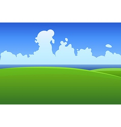Green meadows in Ireland vector image