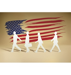 People paper walking vector