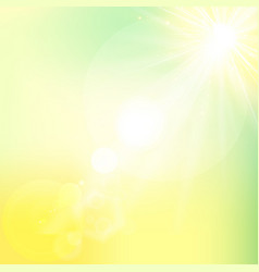 sun shiny sunlight from the sky nature with vector image vector image