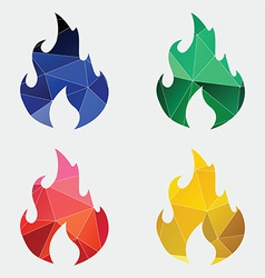 fire icon Abstract Triangle vector image