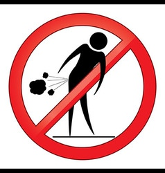 Forbid farting people sign vector