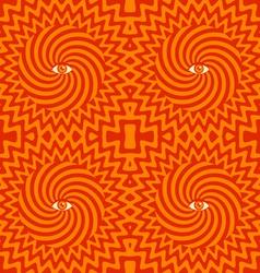Hypnotic pattern orange vector image