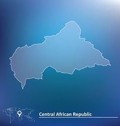 Map of Central African Republic vector image vector image