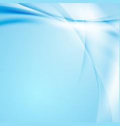 modern hi-tech blue swoosh wave design vector image vector image