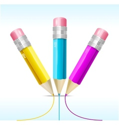 Pencil CMYK vector image