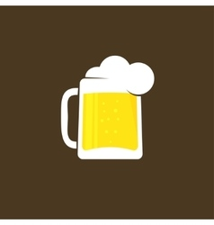 White beer glass with foam logo template vector image