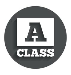 A-class sign icon Premium level symbol vector
