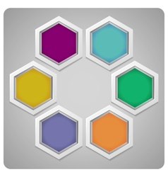 abstract frame made from hexagons vector image