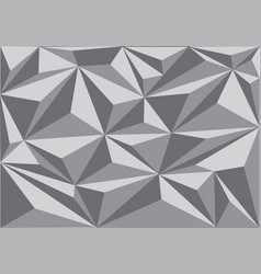 Abstract grey triangle polygon pattern background vector