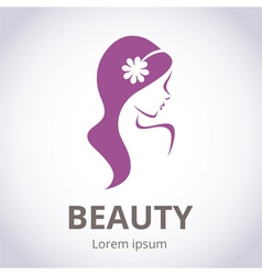 Abstract logo for beauty salon vector