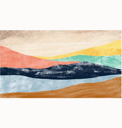 abstract mountain landscape natural landscape vector image