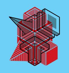 Abstract trigonometric construction dimensional vector