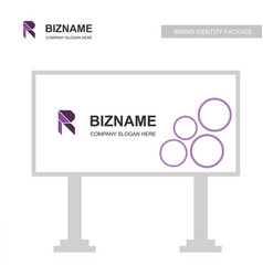 advertisement board with company logo and its vector image