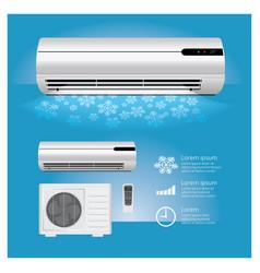 air conditioner realistic vector image