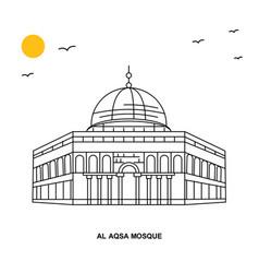 Al aqsa mosque monument world travel natural vector