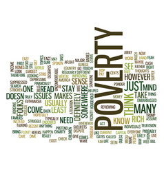 Article on poverty text background word cloud vector