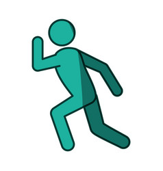 Athlete running pictogram vector