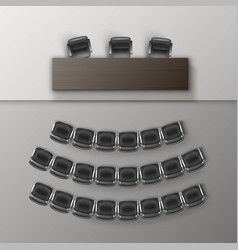 Audience auditorium empty college lecture vector