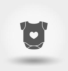 baby bodysuit icon silhouette flat vector image