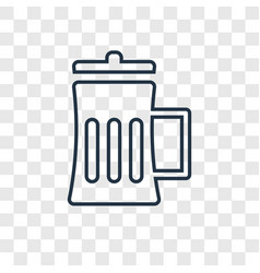 beer mug concept linear icon isolated on vector image