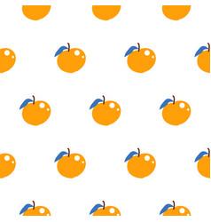 bright summer juicy peach cartoon seamless pattern vector image