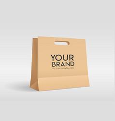 brown piercing bag paper bag mock up design vector image