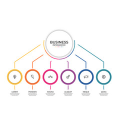 Business infographic template timeline concept vector