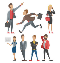 business people man and woman full length vector image