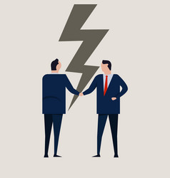 businessmen broken contract relationship vector image