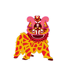 Chinese new year celebration and lion dance vector