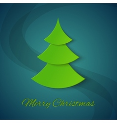 Christmas tree on blue background vector image