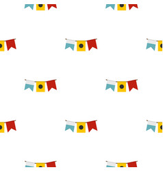 colorful flags pattern flat vector image