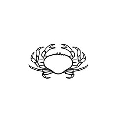 crab hand drawn sketch icon vector image