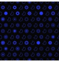 Dark star and moon seamless pattern vector