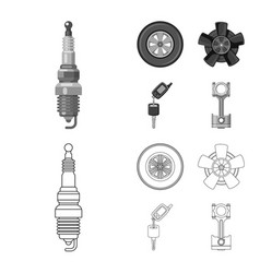 design of auto and part symbol collection vector image