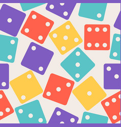 dices gamble gaming seamless pattern color poker vector image