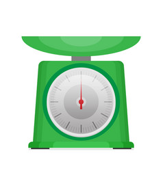 Domestic weigh scales flat vector