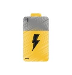 Ed battery alkaline lighting vector