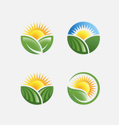 farm icon pack vector image